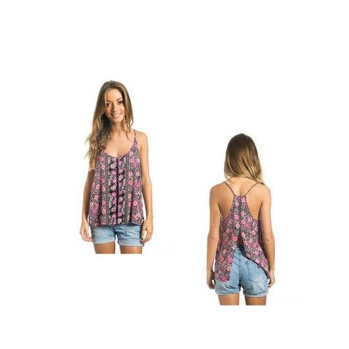 Rip Curl Women/'s Yucas Singlet Sleeveless Open Back Top Size 14 Large
