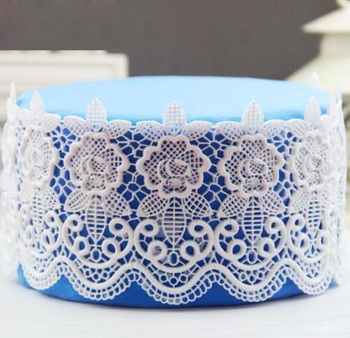 Silicone Floral Lace Mold Sugarcraft Wedding Cake Tool Impression Gum Pastry Mat