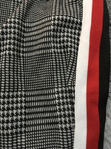 Ultra Flirt Plus Women Wide WB Skinny Ponte Pant 3X RED//Wht//Blk Stripe NWT