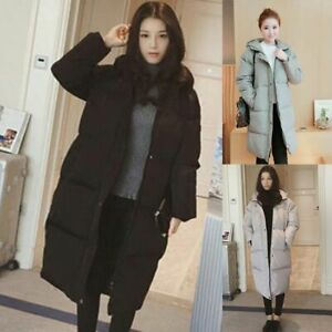 Women-Winter-Padded-Puffer-Down-Long-Jackets-Quilted-Hooded-Coat-Warm-Outwear