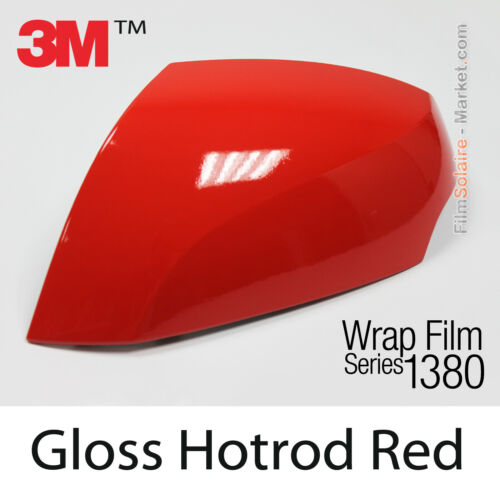 Gloss Hotrod Red 3M 1380 G13 New Series Car Wrapping Total Covering Vinyle Film