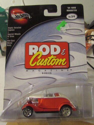 w//Real Riders 100/% Hot Wheels Rod /& Custom Magazine /'34 Ford Roadster!