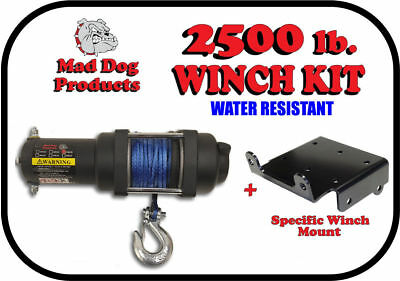 2500lb Mad Dog Synthetic Winch//Mount Kit 2015-19 Can-Am Outlander 450 450 MAX