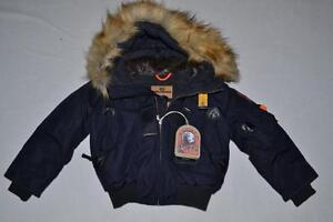 AUTHENTIC-PARAJUMPERS-GOBI-ECO-BOYS-HOODED-BOMBER-NAVY-SIZE-10-KIDS-BRAND-NEW
