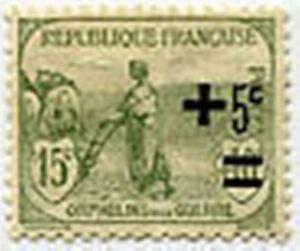 FRANCE-N-164-034-AU-PROFIT-DES-ORPHELINS-DE-LA-GUERRE-5-C-S-15-10-C-034-NEUF-xTB
