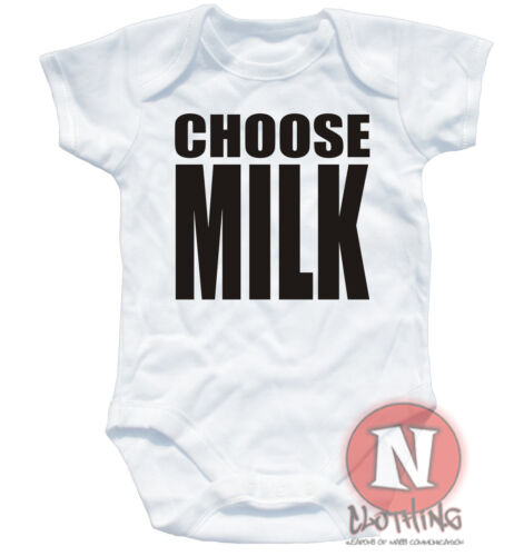 Naughtees Clothing Wähle Milch Lustig Strampler Baby Anzug Weste Trainspotting