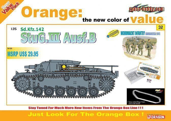 Cyber Hobby 1 3 5 9132  Solid stug. III ausf. B sd.kfz. 142