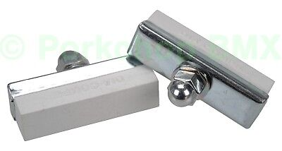 PAIR Dia-Compe reissue threaded brake pads old school BMX bicycle SALMON