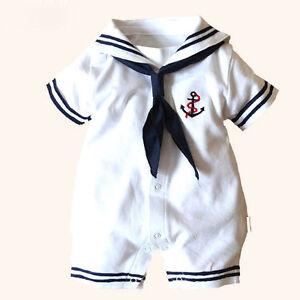 e7a7ebe12 USA Kids Baby Boy Girl New Anchor Sailor Romper Jumpsuit Bodysuit ...