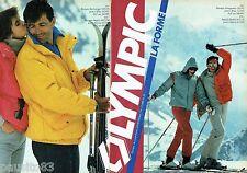 PUBLICITE ADVERTISING 106  1983  Olympic (2p) vetements de ski anorak