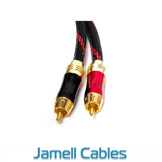 10m Ultra Premium 2RCA Male to 2RCA Male Stereo Audio Cable