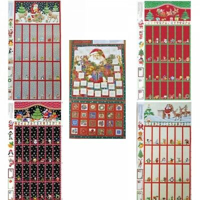Santa and Rudolph Christmas Holiday Stocking 100/% Cotton Fabric Panel Nutex