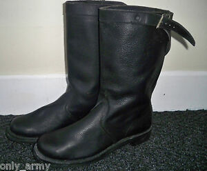 Belgian Army Jack Boots Military Riding Boots Motorcycle Parade Hunting UK 6-10