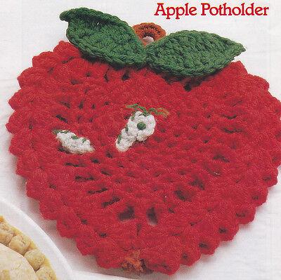 Crochet Pattern ~ APPLE POTHOLDER ~ Instructions