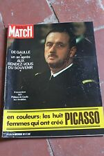 Paris match 1176 de 1971 De Gaulle , Picasso , Dalida