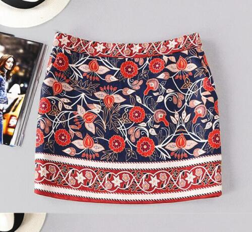 Occident women wool embroidery turtleneck sweater skirt two-piece suit NEW F341