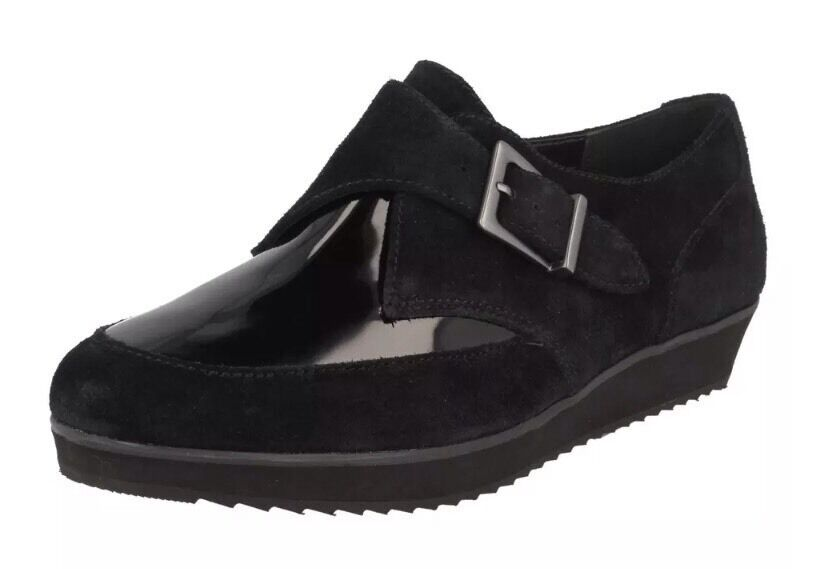 NewClarksSize 6 Compass Point Black Suede Creeper Inspired shoes 39.5EU