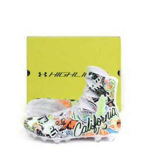 NIB-UNDER-ARMOUR-Limited-Ed-California-HIghlight-LC-Football-Cleats-Shoes-10-1-2
