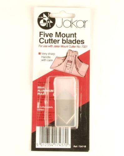 Jakar Mount Cutter Kit Spare Blades 40//60cm Acrylic//Aluminum Ruler 45//90 Degree