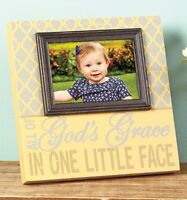 Wooden Sentiment Photo Picture Frame Plaque God's Grace In One Little Face