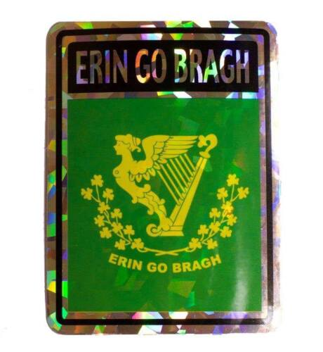 Erin Go Bragh Flag Reflective Decal Bumper Sticker