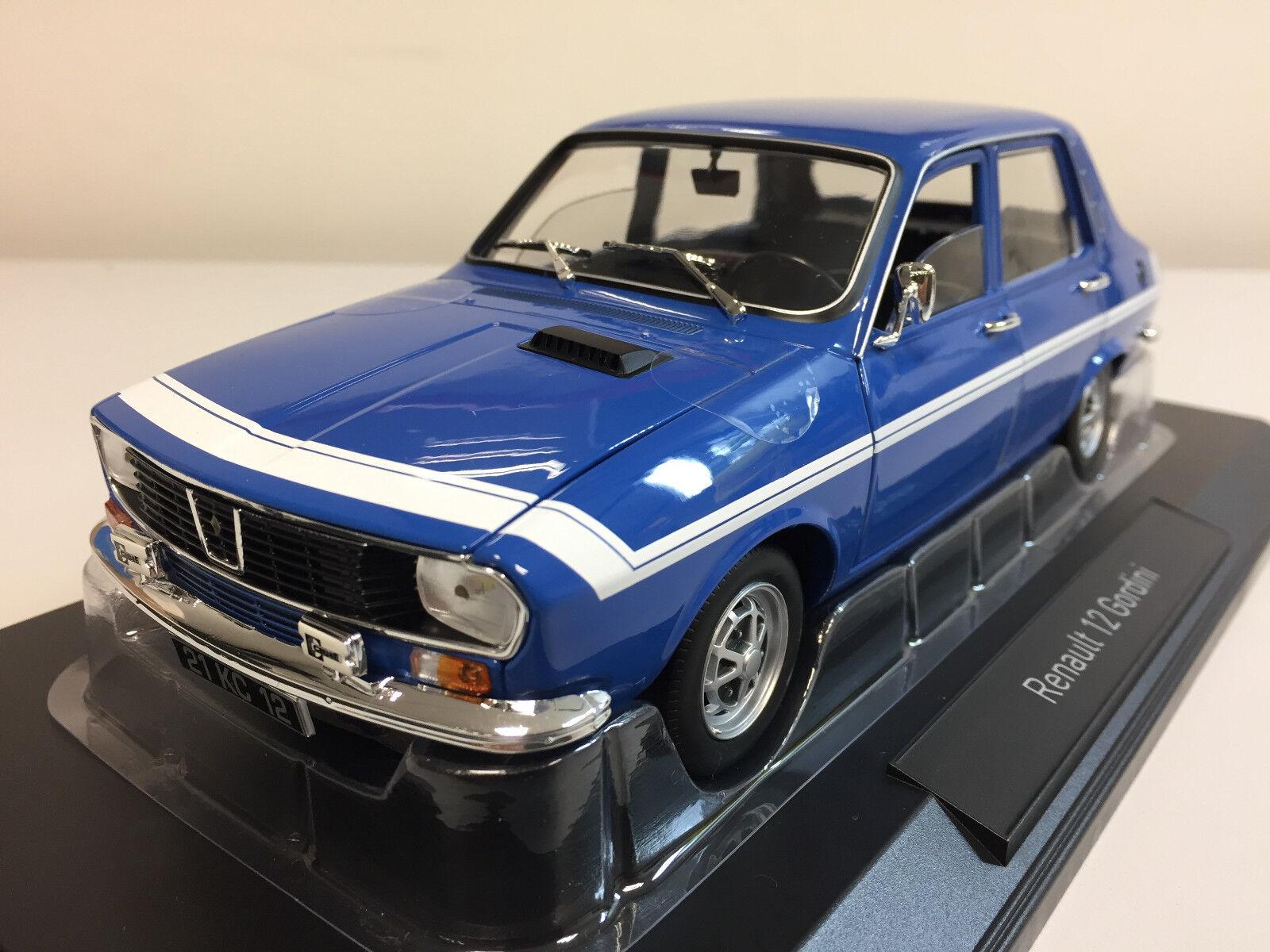 Norev Renault 12 Gordini 1971 Bleu de France 1 18 185210 9