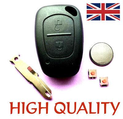 3 botón remoto CLAVE FOB CASO Kit De Reparación De Servicio Para Opel Opel Vivaro