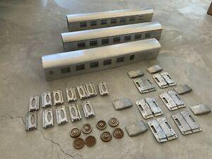 Scale-gauge-1-Metal-kit-for-3-each-passenger-cars-type-Pullman-Orient-express