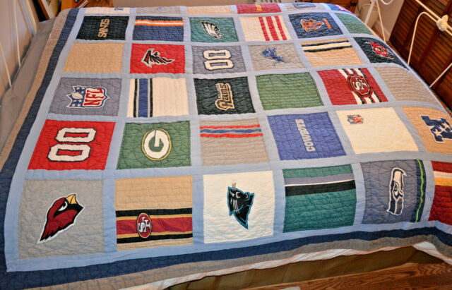 Pb Teen Pottery Barn Nfl Football Nfc Patchwork Quilt Full