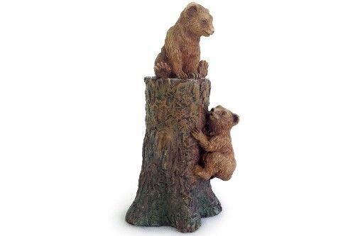 Miniature Dollhouse FAIRY GARDEN Climbing Bear Cubs Accessories