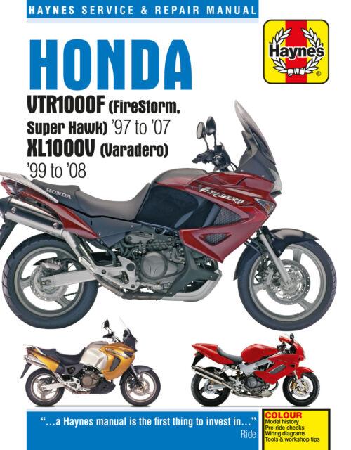 Honda VTR1000F (FireStorm, Super Hawk) (97 - 07) & XL1000V (Varadero) (99 - 08)