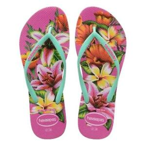 Havaianas-NEW-Women-039-s-Slim-Floral-Hollywood-Rose-BNWT