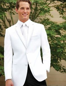 Image Is Loading White Perry Ellis Virgo Tuxedo Dinner Jacket Prom