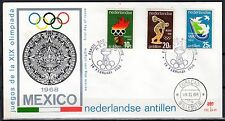 Dutch Antilles - 1968 Olympic games Mexico - Clean unaddressed FDC!
