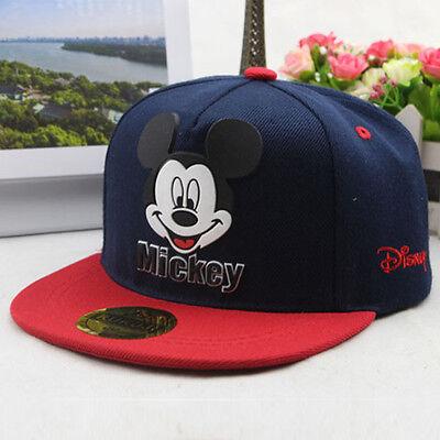 Children Kids Mickey Mouse Baseball Cap Boy Girl School Snapback Adjustable Hat