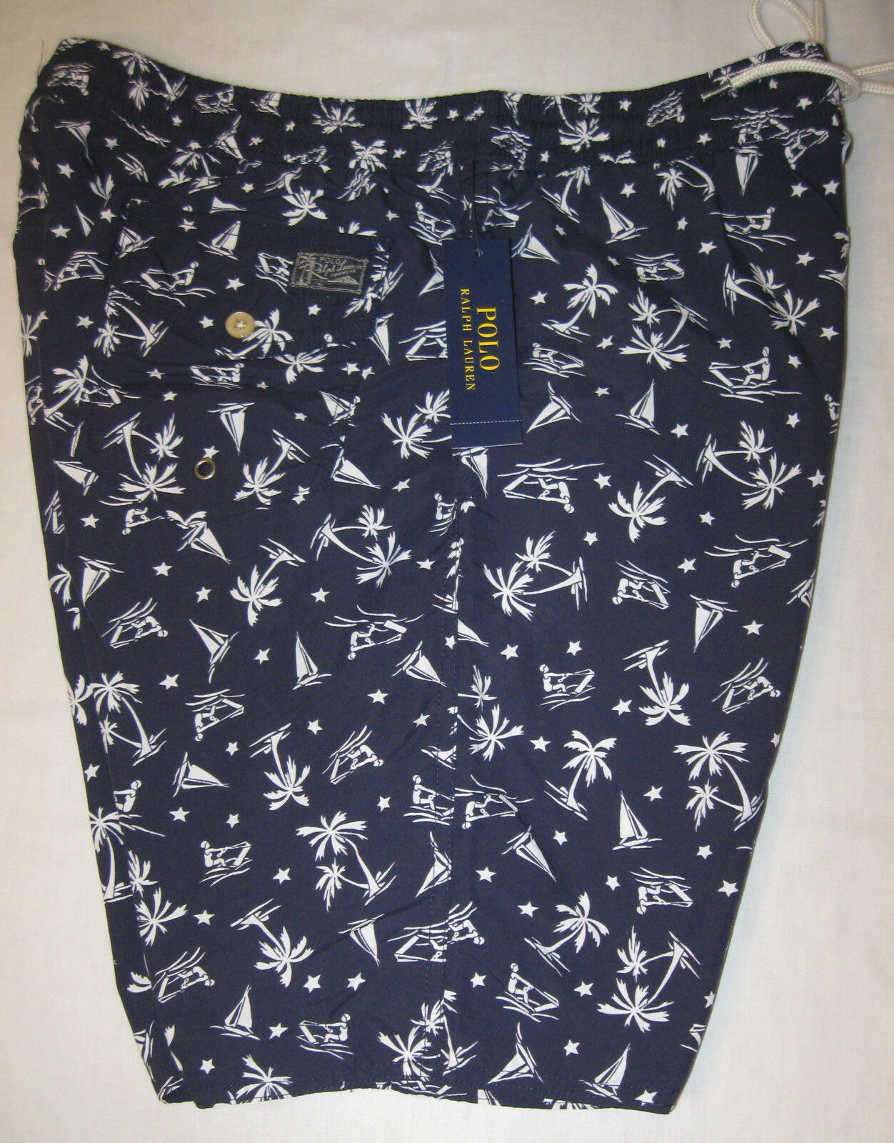 Polo Ralph Lauren Sailboat-Print Traveler Swim Shorts Trunks NWT
