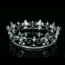 Full King's Crown Wedding Party Crystal Tiara 9373