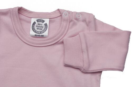PINK SHADE BABY BODYSUIT FULL SLEEVE SHOULDER POPPERS 100/% COTT PRISM PINK