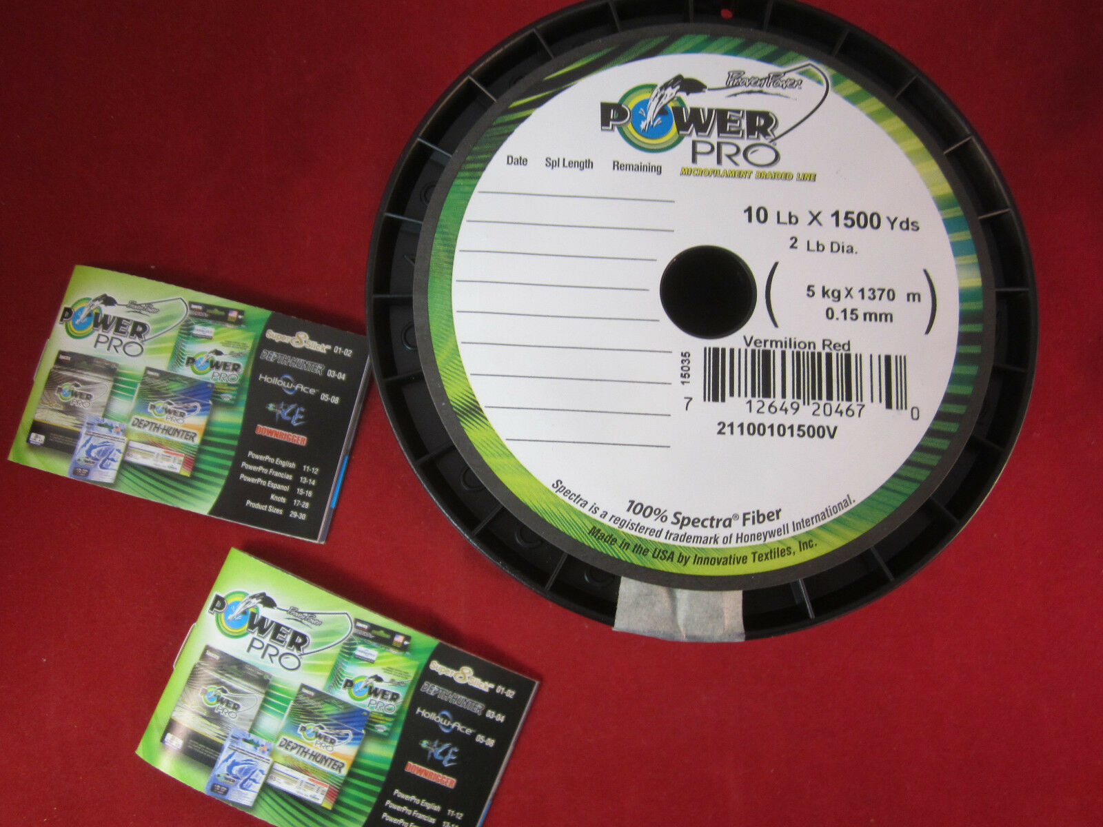 Power Pro  Spectra 1500 yd - 10 lb Vermilion Red Fishing Line