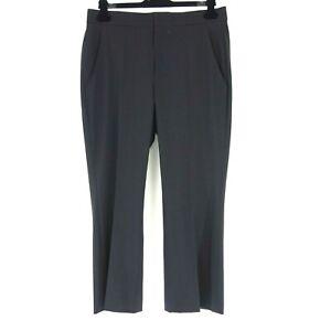 Isabel-Marant-Pantalon-Femmes-1501-Taille-42-Noir-Droit-Laine-Longueur-7-8-Np