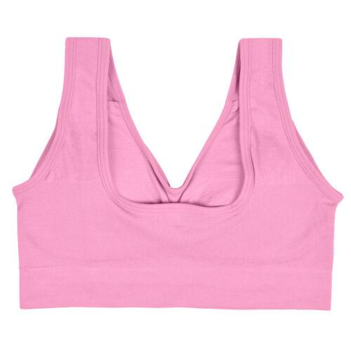 Women Fitness Soft Sport Bra Running Comfort Crop Top Stretch Gym Yoga Vest Tank