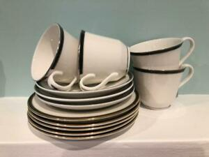 ROYAL-DOULTON-NEW-ROMANCE-OXFORD-MIDNIGHT-amp-BLACK-12-ASSORTED-CUPS-SAUCERS-SIDES