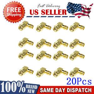 20-Pcs-SMA-Male-To-SMA-Female-RF-Connector-Adapter-Plug-Jack-90-Right-Angle-US