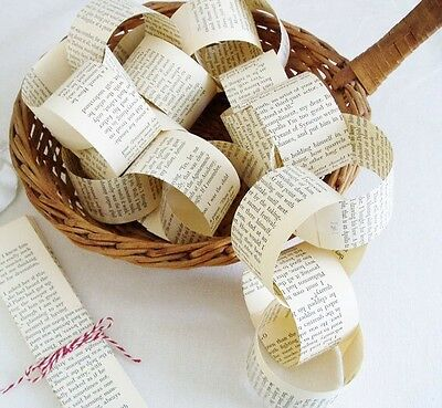 Paper Chain Kit Vintage Book Pages - DIY Garland Wedding Decoration