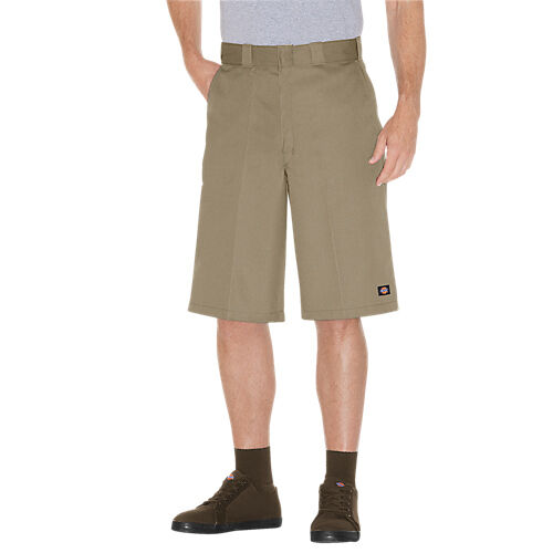 e547c8ad07 Dickies Men s Big and Tall 13 Loose Fit Multi-pocket Work Short Khaki W52