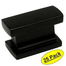 *25 Pack*  Cosmas Cabinet Hardware Flat Matte Black Knobs #4702FB