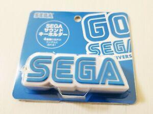 "Sega 60th Anniversary Sound Key Holder Keychain Keyring ""Seeegaaa!♫"" Japan New"
