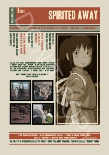 Unique Designs MIYAZAKI Movies Best Quotes Posters Set of 3 Wall Art Print