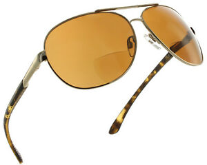 4c350fa997 Image is loading Polarized-Aviator-Bifocal-Reading-Glasses-Sunglass-Reader -For-