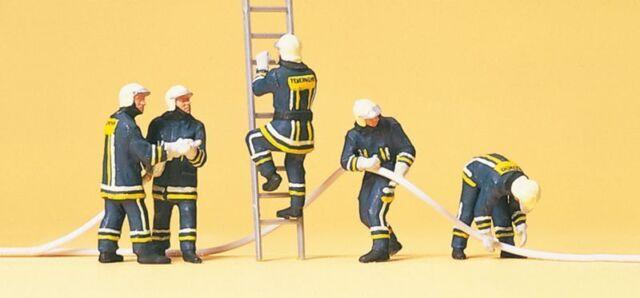 Preiser 10485 Pompiers,Costume Moderne,H0